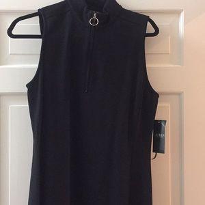 "Womans black dress with 9"" zipper"